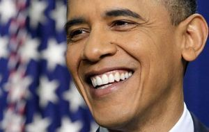 With less than two weeks for election, Obama smiles at the good news