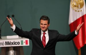 Peña Nieto takes office next December first marking the return of the PRI after twelve years on the sidelines