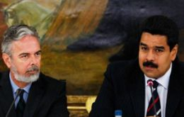 Patriota will meet his peer Maduro to address a long bilateral and regional agenda