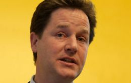 Deputy PM Clegg fears EU debate could lead to marginalization of the UK