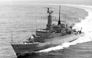 HMS Antelope lost during the Falklands' war