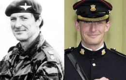 Colonel 'H' Jones killed in combat in the Falklands and his son, Brigadier Rupert Jones