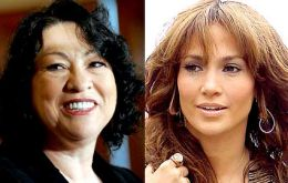 Supreme Court Judge Sonia Sotomayor and Jennifer Lopez are of Puerto Rican descent