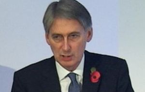 Defence Secretary addressing Commons