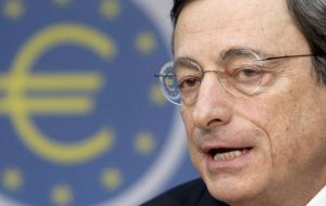 """Financial market confidence has visibly improved"", said ECB president"