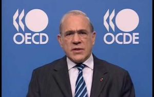 "OECD Secretary General Gurria is also cautious about the report: ""no forecasts set on stone"""