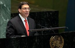 Minister Rodriguez: 'four years of persistent tightening of the embargo'