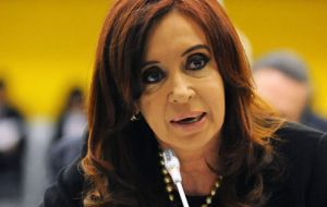 Cristina Fernandez, first time a president sits at the C24 meeting in New York