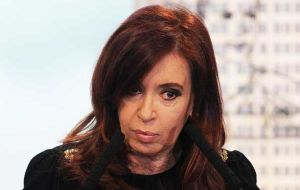 Cristina Fernandez has vowed to never pay 'a dollar to the vulture funds'