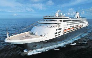 Holland America ship Veendam missed her calls to the Falklands