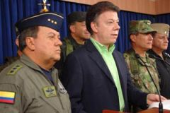 President Santos made the announcement and left Colombian navy vessels in the disputed waters