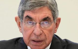 Former Costa Rica president and 1987 Nobel Peace Oscar Arias