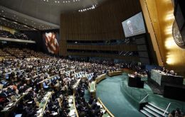 Only Panama voted against and Guatemala, Colombia and Paraguay abstained at the General Assembly
