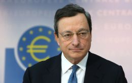 ECB Draghi anticipates recovery in most Euro zone will begin in the second half of 2013