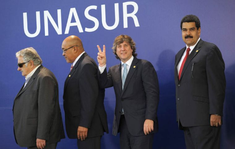 Vice-president Boudou expressed Argentina's satisfaction with Unasur's support (Pic EFE)