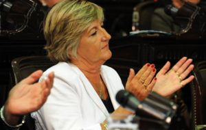Argentine lawmaker Nancy Gonzalez disappointed