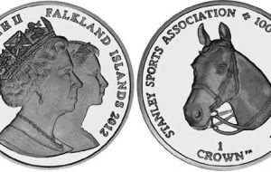 More than a celebration coin, a symbol of the Falklands