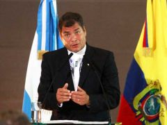 And what about the bombings on civilians in Libya by NATO, asked Correa