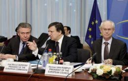 The EU delegation will be made up of De Gucht,  Barroso and Van Rompuy