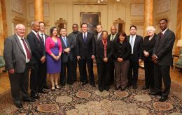 British Overseas Territories' leaders were invited for tea by PM Cameron (Photo: FCO)