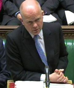 Foreign Secretary Hague will lay a written statement to the House of Commons on the issue of Gibraltar waters on Monday