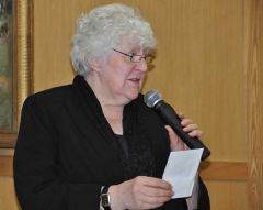 Councillor Jan Check addressing the AGM