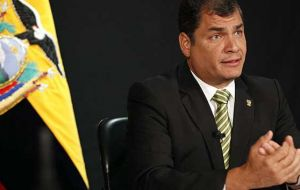 President Correa has openly supported the Syrian regime as he did previously with Libya's Khadafi