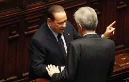 Il Cavaliere is back is back and accused PM Monti of being 'too German centric'