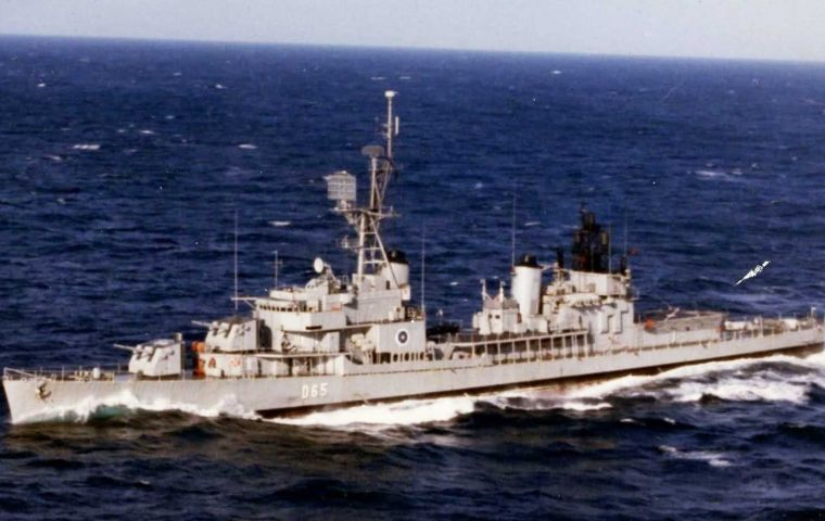 SPS Tamogago spent two hours in Gibraltar waters