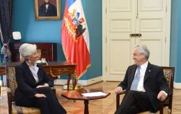 Christine Lagarde with President Piñera
