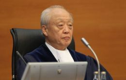 Law of the Sea president Judge Shunji Yanai of Japan reads the ruling