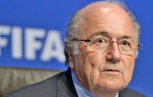 FIFA's Blatter was shocked by the incidents with guns at half time in the South American clubs cup final