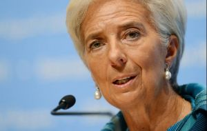 Lagarde sent a report on Argentina's case to the IMF board