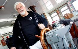 Founder Paul Watson is on a Sea Shepherd vessel preparing to pursue the Japanese fleet
