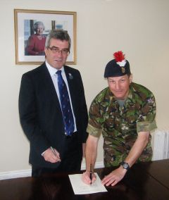 FIG Chief Executive and Commander British Forces and sign the MOU at Government House