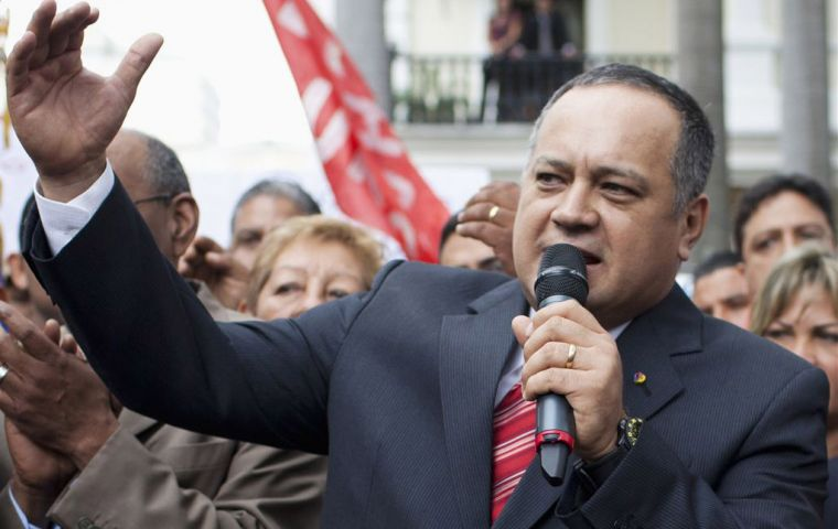 "National Assembly president Diosdado Cabello: ""you can't tie the will of the people to one date"" (Photo: Reuters)"