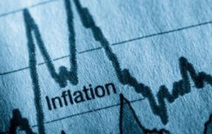 December recorded negative inflation, the first month in forty years