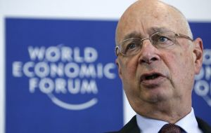 Klaus Schwab said that new international rules are needed to address speculative funds (hedge funds)