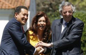 The Argentine president and her late husband Nestor Kirchner had a very close relation with Chavez