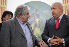 The Uruguayan president, close friend and advisor of Chavez is attending as chairman of Mercosur
