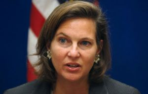 Victoria Nuland said Washington is concerned for Chavez health and wishing a speedy recovery