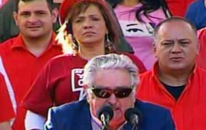 Wearing his classical dark glasses, Mujica's was the most sober of speeches