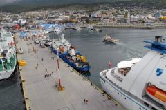 The cruise hub Ushuaia in Tierra del Fuego is one of the big losers