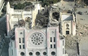 The remains of Port-au-prince cathedral