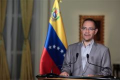 Communications minister Ernesto Villegas went on Sunday on national television to giver a brief report on Chavez' health condition