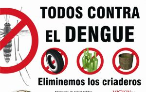 Dengue causes the death of 5.000 to 6.000 people per year