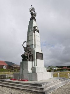 The monument to the 1914 Battle of the Falklands