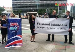 Young Falkland Islanders in New York last June at the United Nations