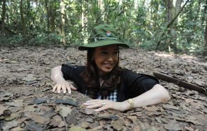 Cristina Fernandez fascinated with the Viet Cong tunnels