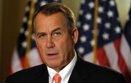 "House speaker John Boehner referred to the provision as ""no budget, no pay"""